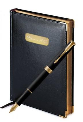 Подарочный набор Перьевая Ручка Parker Sonnet Matte Black Gt Imperium
