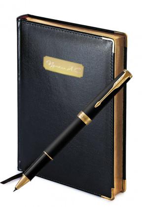 Подарочный набор Ручка Роллер Parker Sonnet Matte Black Gt Imperium