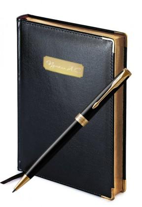 Подарочный набор Шариковая Ручка Parker Sonnet Laque Black Gt Imperium