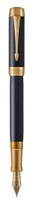 Перьевая ручка Parker Duofold Prestige Centennial Blue Chevron GT Foutain Pen Medium