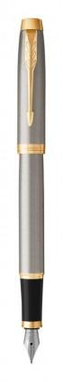 Перьевая ручка Parker IM Metal Core Brushed Metal GT