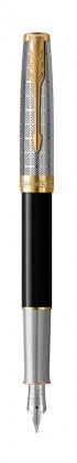 Перьевая ручка Parker Sonnet Premium Metal Black GT