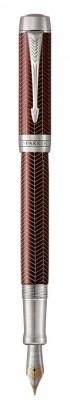 Перьевая ручка Parker Duofold Prestige Centennial Burgundy Chevron CT