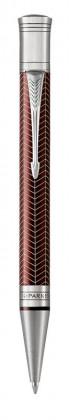 Шариковая ручка Parker Duofold Prestige Centennial Burgundy Chevron CT