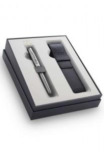 Набор Parker Sonnet  Stainless Steel CT GIFT 20 с чехлом для ручки