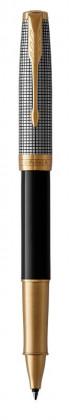Ручка роллер Parker Sonnet BLACK SILVER GT