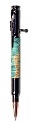 Ручка Патрон из капа клёна (зелёная)