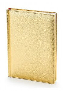 Ежедневник недатированный А5 Sidney (золото)