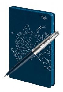 Подарочный набор Шариковая Ручка Parker 51 Core Midnight Blue Открывая Россию
