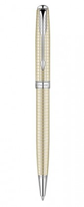 Шариковая ручка Parker Sonnet Ciselle Decal Silver CT