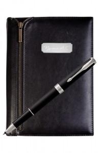 Подарочный набор VIP Ежедневник и ручка Parker Sonnet Matte Black CT